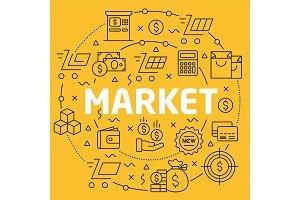 Linear illustration market
