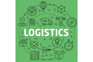 Linear illustration logistics