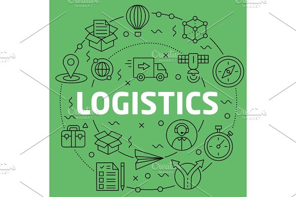 Linear Illustration Logistics