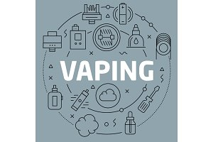 Linear illustration vaping
