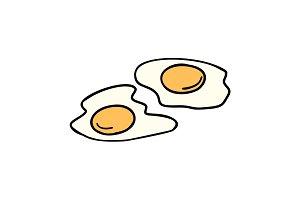 fried eggs, morning Breakfast
