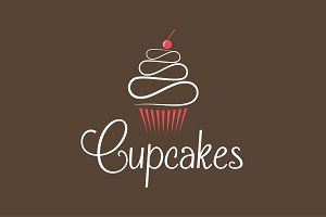 Cupcake logo design background
