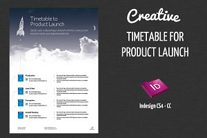 Timetable for Product Launch