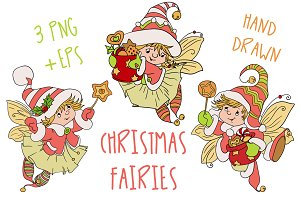 Christmas Fairy Baby Nursery Clipart