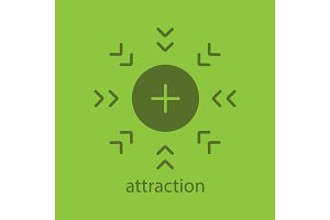 Attraction glyph color icon