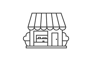 Small shop linear icon