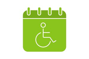 Disability day glyph color icon