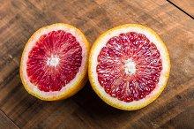 Blood orange halved