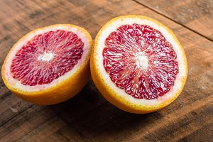 Blood orange halved