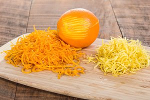 Orange and lemon zest