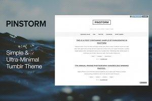 Pinstorm - Minimal Tumblr Theme