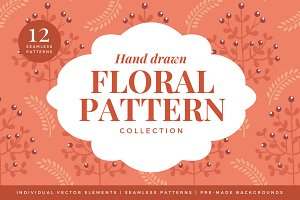 Hand-drawn Floral Pattern Collection