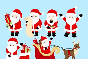 Santa Claus Clip Art - Christmas Set