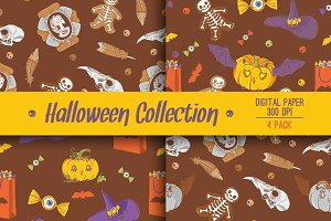 Halloween 4 colorful background