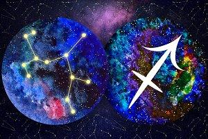 SAGITTARIUS & Watercolor Galaxy