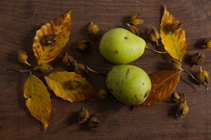 rustic pear still life