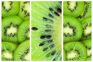Green background with kiwi