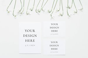 Snowdrops Stationery Suite Mockup