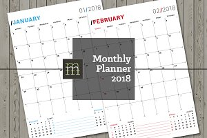 Monthly Planner 2018 (MP018-18)