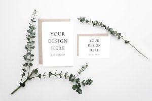 Eucalyptus Stationery Suite Mockup