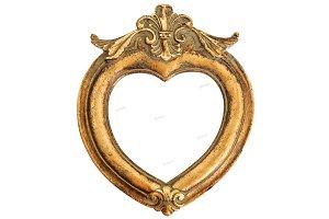 Baroque style golden frame