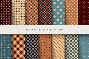 Seamless vintage patterns polka dots