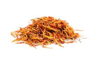 Pile saffron spice