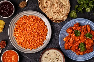 Indian curry with lentils