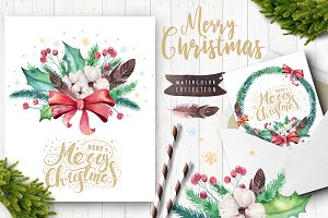 Christmas floral collection