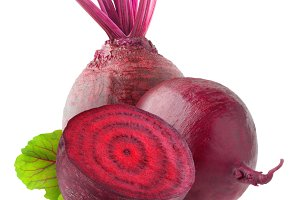 Isolated beetroots