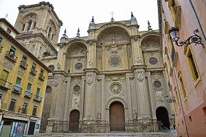 Facade of the cathedral, Granada, Spain