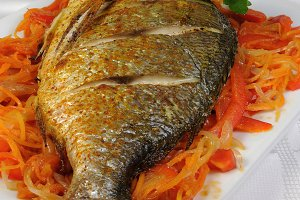Fried Fish (Dorado)