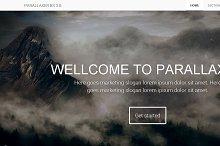 PARALLAXER Bootstrap 3.0. responsive