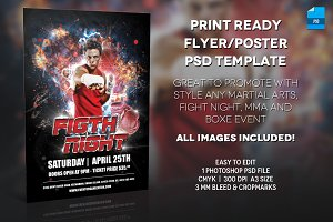 MMA Boxer Poster Print Template