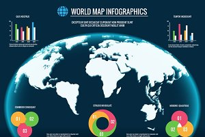 3d world maps infographics
