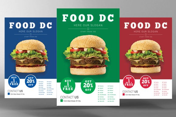 Fast Food Flyer-Graphicriver中文最全的素材分享平台