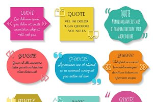 Text quotes box set