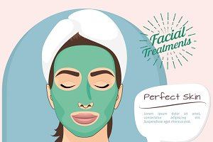 Perfect skin vector illustration