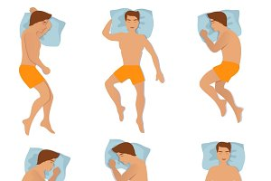 Different sleeping poses