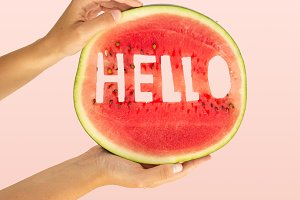 Hello food typography poster