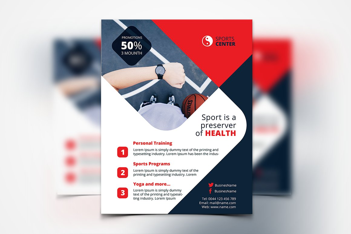 Sport Flyer ~ Templates ~ Creative Market