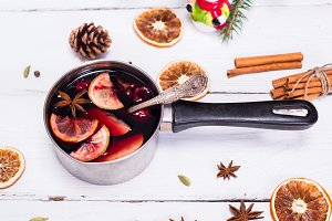 cooked mulled wine