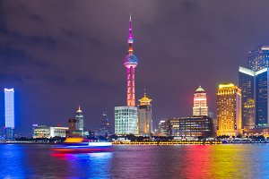 Cityscape of Shanghai Downtown