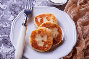 Sweet homemade cheese pancakes