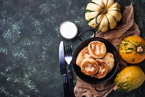 Delicious homemade pumpkins pancakes