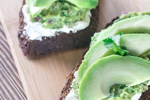 Toasts with avocado