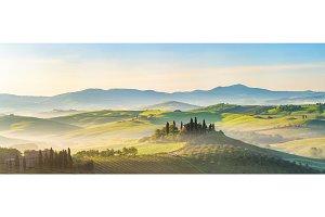 Tuscany at spring morning