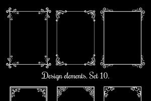 Calligraphic floral frames