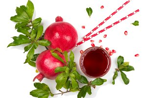Fresh juice with pomegranate.