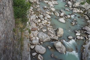 mountain torrent river